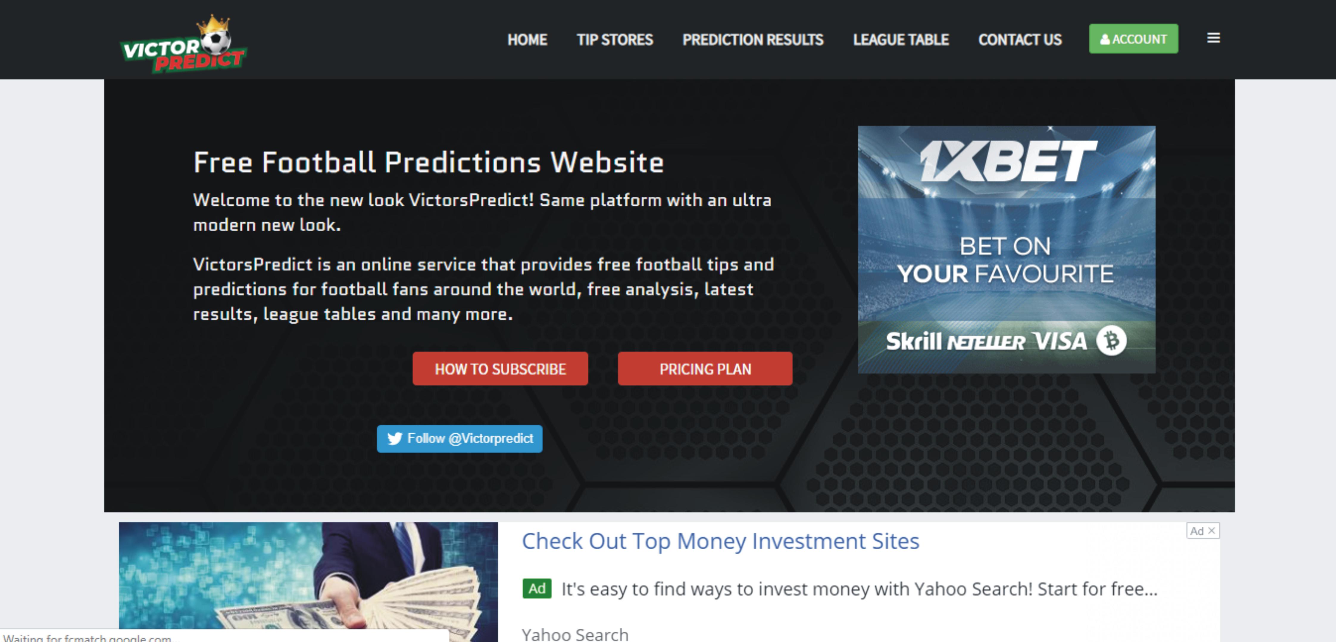 Victors Predict - Website Design, Web and Mobile